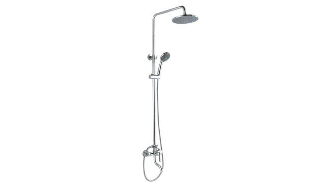 全铜淋浴花洒套装带升降增压 圆型喷头大淋浴器花洒套装 GH9014