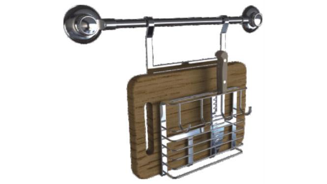刀架砧板架 厨房置物架吸盘壁挂菜板架筷子筒案板架收纳架33560
