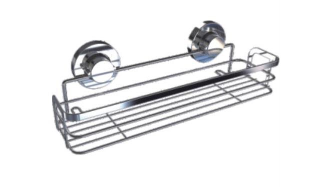 厨房置物架 吸盘调味盒 壁挂调味罐置物架 吸盘不锈钢置物架73728