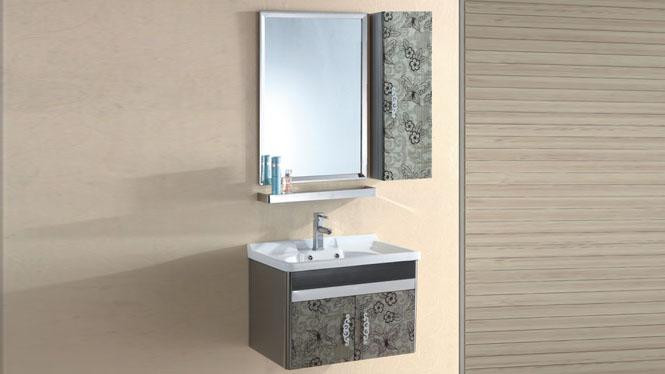 不锈钢卫浴柜浴室柜组合洗漱台洗脸盆洗手台盆挂墙式700mm 15523