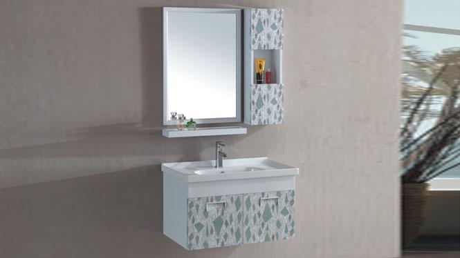 太空铝浴室柜洗手盆柜组合洗漱台池洗手台盆柜挂墙式800mm 15110