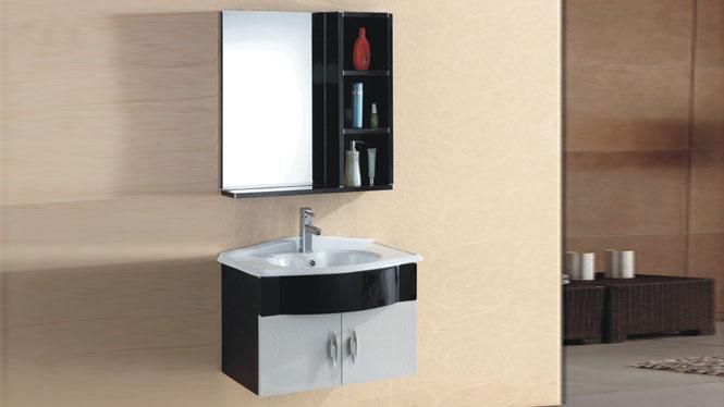 太空铝浴室柜组合洗漱台洗脸盆洗手盆洗面盆池台盆挂墙式700mm 15109