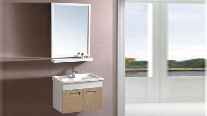 太空铝浴室柜组合 面盆卫浴柜洗脸盆柜组合 洗手盆吊柜600mm 15074