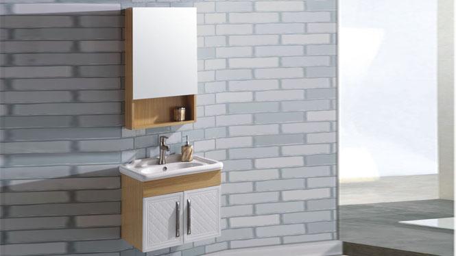 太空铝浴室柜组合 卫浴柜洗脸盆柜洗手盆柜 挂墙式600mm 15073