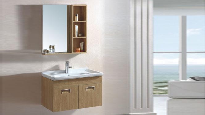 太空铝浴室柜洗脸盆柜组合洗手盆柜组合洗漱台池柜800mm 15072