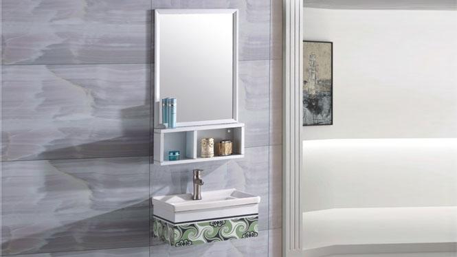 太空铝浴室柜组合 卫生间壁挂吊柜 洗脸盆洗漱台柜500mm 15068