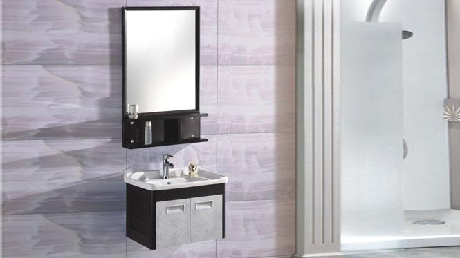 太空铝浴室柜组合 洗手脸盆柜卫浴柜挂墙式600mm 15067