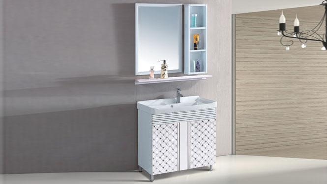太空铝浴室柜组合 面盆卫浴柜洗脸盆柜组合 洗手盆落地800mm 15034