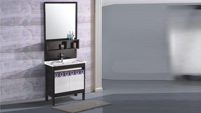 太空铝落地浴室柜阳台洗手盆洗脸盆柜800mm 15033