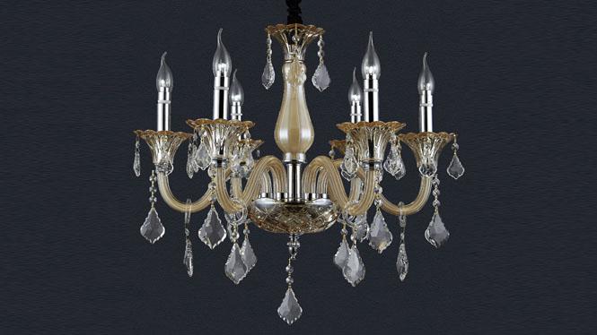 吊灯欧式奢华水晶灯现代简约客厅灯餐厅卧室灯具JPHY-6036