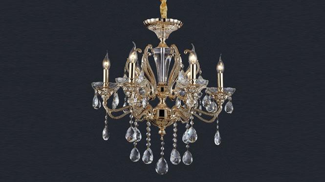 欧式吊灯奢华水晶吊灯蜡烛吊灯锌合金客厅灯餐厅灯JPHY6009