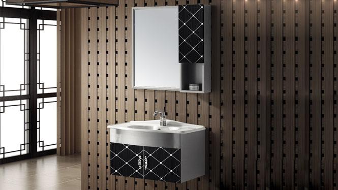 挂墙304不锈钢浴室柜 卫浴柜洗手盆 洗脸盆柜组合T-9450  600mm700mm800mm