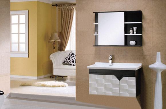 实木浴室柜组合欧式橡木 吊柜 镜柜 600mm700mm800mm900mm1000mm KD-BC003W