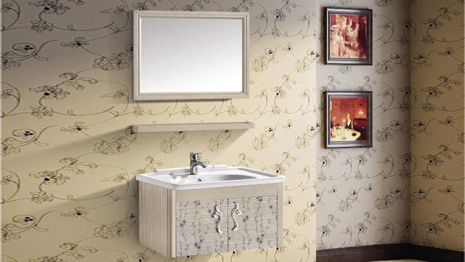 挂墙式竞博亚洲大师赛dota2柜洗脸盆柜组合 太空铝浴室柜T-9791  700mm800mm600mm