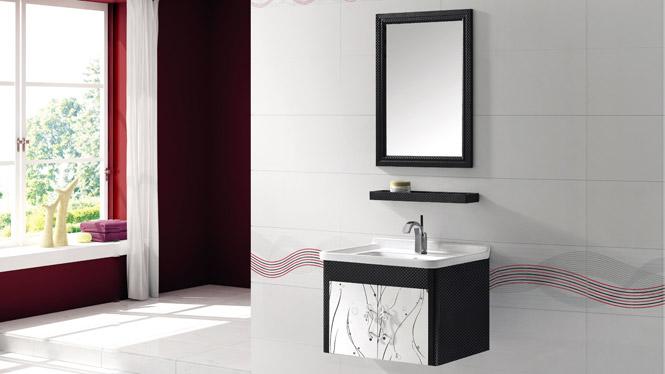 挂墙式太空铝合金卫浴柜 洗手盆洗脸台盆柜T-9786  600mm700mm800mm