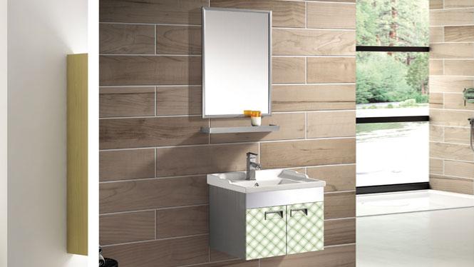 不锈钢浴室柜挂墙式洗手洗脸盆柜组合T-9569  800mm600mm700mm