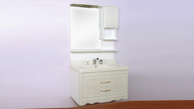 浴室柜组合 洗手间卫浴实木柜 玉石台面浴室柜900mm800mm1000mm 80A