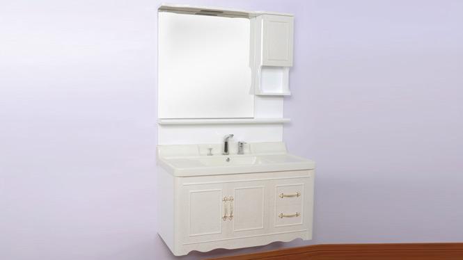 实木橡木欧式浴室柜组合 洗手洗脸盆 挂墙式玉石盆900mm800mm1000mm 100C