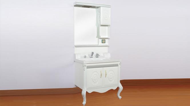 欧式落地pvc浴室柜组合 玉石洗漱台洗手盆洗脸池盆组合卫浴柜 1000mm800mm 3078