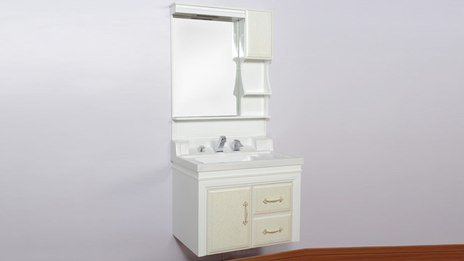 玉石台面盆浴室柜组合挂墙式PVC洗脸盆卫浴欧式柜洗手盆 900mm800mm1000mm 3075