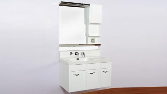 浴室柜pvc卫浴柜组合挂墙式现代简约洗手盆玉石台面 1000mm900mm800mm 2071
