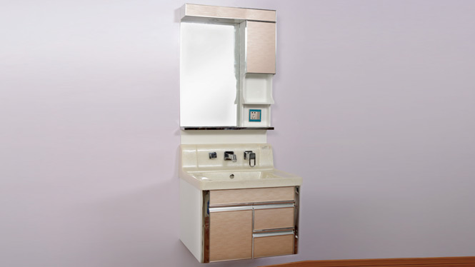 PVC浴室柜组合挂墙式卫浴柜简约欧式玉石盆洗手台洗脸面盆柜800mm600mm A9