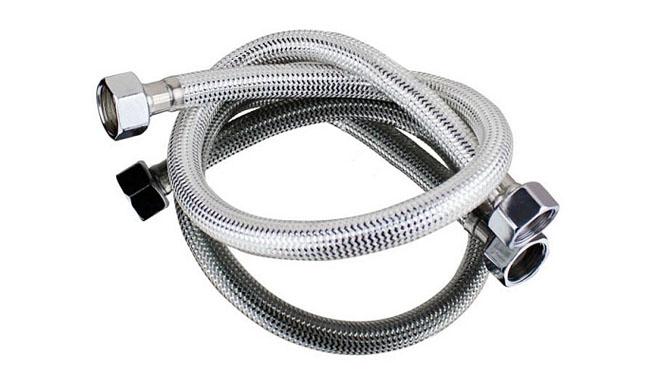 不锈钢编织软管马桶进水管冷热水双孔龙头50cm DLB-1021