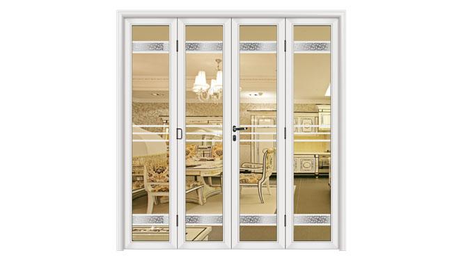 2014年热卖铝合金折叠门阳台隔音有轨大折叠门70 DS13104