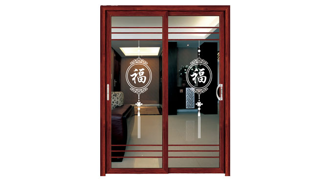 厨房门阳台门客厅门推拉吊趟门系列可带不锈钢纱网金钢网 DS1062