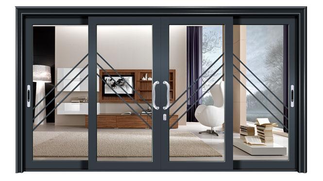 重型推拉门1.6-2.0壁厚阳台隔断移门庭院双层钢化玻璃2 DS-1004