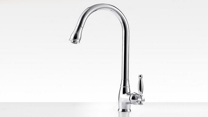 厨房洗菜盆水龙头全铜冷热抽拉可旋转水槽龙头套餐特价S063
