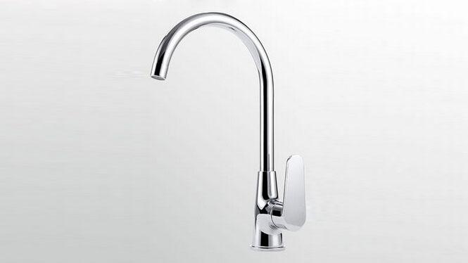 厨房水龙头 全铜主体单孔旋转冷热洗菜盆水槽龙头套餐S038