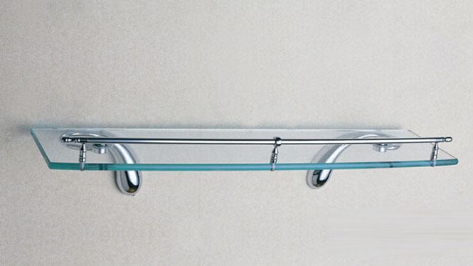 五金卫浴挂件单层玻璃全铜镀铬平台浴室毛巾架单层厂家直销 OL-1710