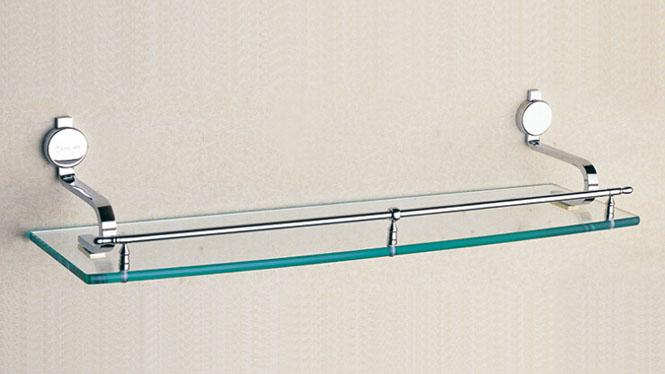 五金卫浴挂件 单层全铜平台浴室单层 置物架oL-1610