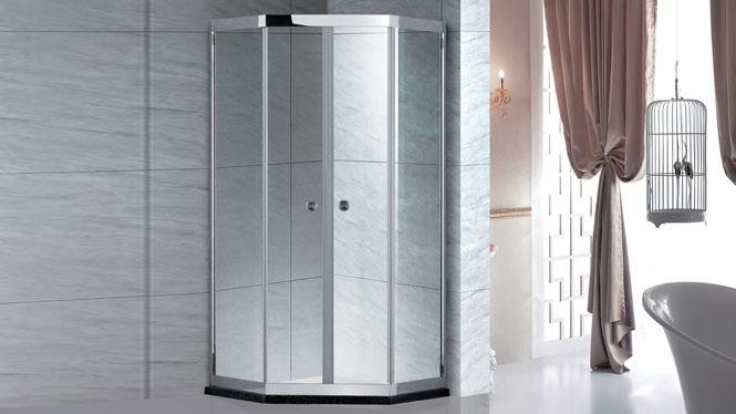 304不锈钢浴室淋浴房 钻石型推拉淋浴房 钢化玻璃淋雨隔断整体淋浴房 BT-62222D