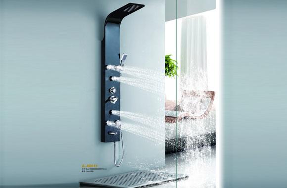 优质不锈钢淋浴柱 按摩淋浴屏 多功能花洒套装 冷热水龙头淋浴器 A-6001#