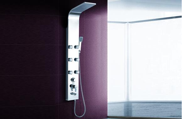 不锈钢淋浴屏淋浴柱五功能淋浴花洒套装全铜淋浴喷头淋浴器 A-6003#