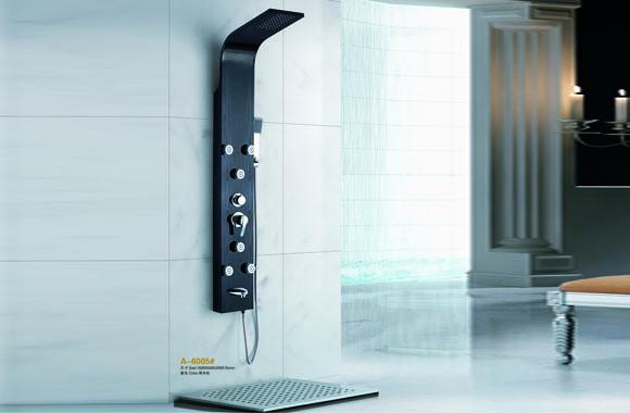 不锈钢淋浴屏柱花洒套装淋浴器喷头冷热恒温水龙头 五金卫浴 A-6005#