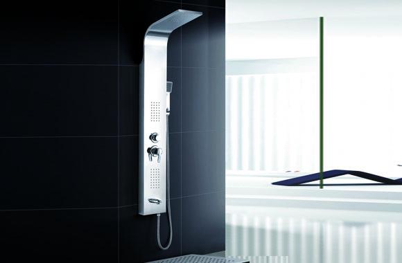 不锈钢瀑布按摩淋浴花洒套装淋浴龙头淋浴屏淋浴器淋浴柱 A-6007#