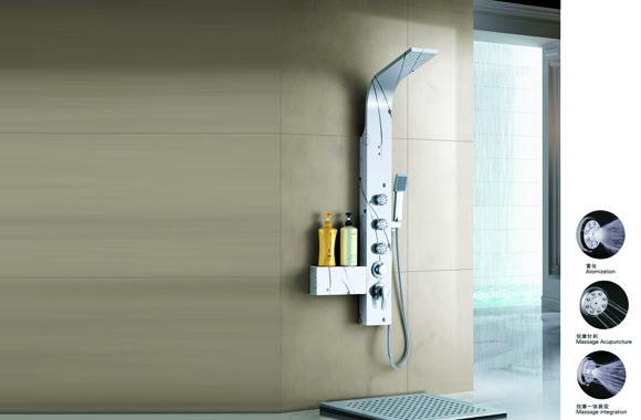 不锈钢淋浴屏花洒套装 淋浴柱淋浴花洒套装淋浴喷头淋浴器 A-6011#