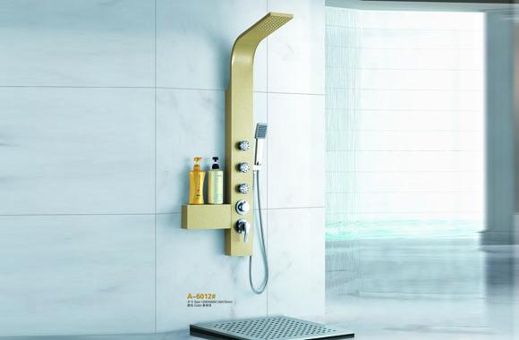 不锈钢淋浴柱 浴室花洒套装 背喷按摩 淋浴屏 多功能淋浴器 A-6012#