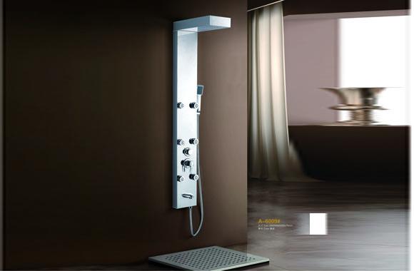 不锈钢淋浴器龙头淋浴柱淋浴花洒淋浴屏喷头卫浴 A-6009#