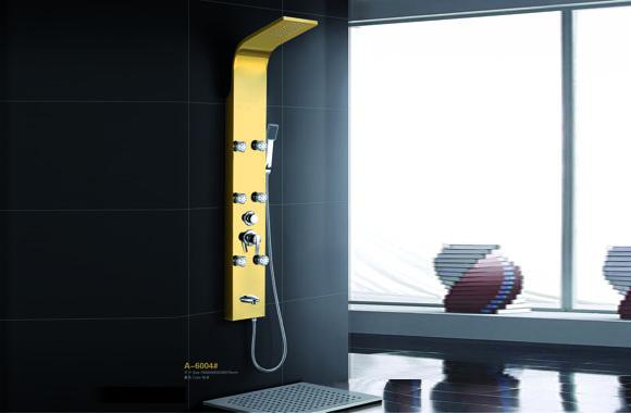 不锈钢淋浴屏花洒 淋浴花洒套装 按摩淋浴器 淋浴柱 A-6004#