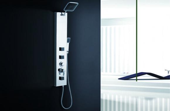 多功能淋浴屏 不锈钢淋浴柱 背喷按摩 淋浴器 花洒龙头套装 A-6028#