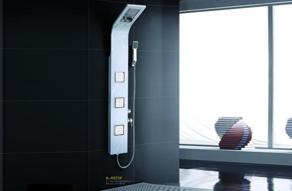 304不锈钢花洒套装淋浴屏淋浴柱按摩淋浴喷头淋浴花洒 A-6023#