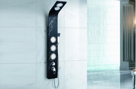 淋浴花洒套装喷淋按摩淋浴柱淋浴屏不锈钢淋浴器淋雨喷头 A-6020#
