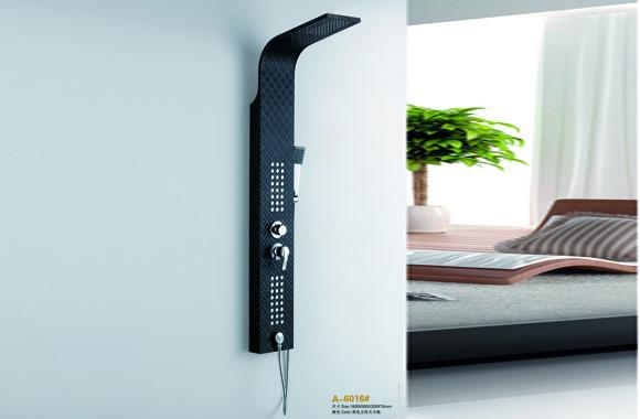 不锈钢恒温淋浴屏 花洒套装 按摩淋浴柱 淋浴器 A-6016#