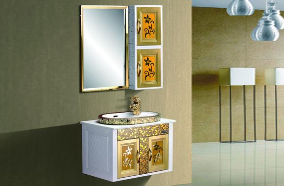 挂墙式太空塑浴室柜 洗脸洗手盆柜组合洁具卫浴现代简约 720mm B209/C209