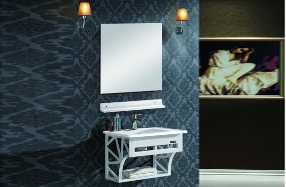 挂墙式太空塑浴室柜组合 卫浴柜洗脸盆柜组合 洗手盆柜组合 620mm Z-60/Z-70/Z-80