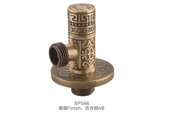 仿古 纯铜角阀 欧式浮雕 艺术三角阀 加厚高压角阀 冷热通用 SP598